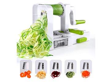 Espiralizador de 5 cuchillas|Cortadora de verduras+cuchillas de acero inoxidable